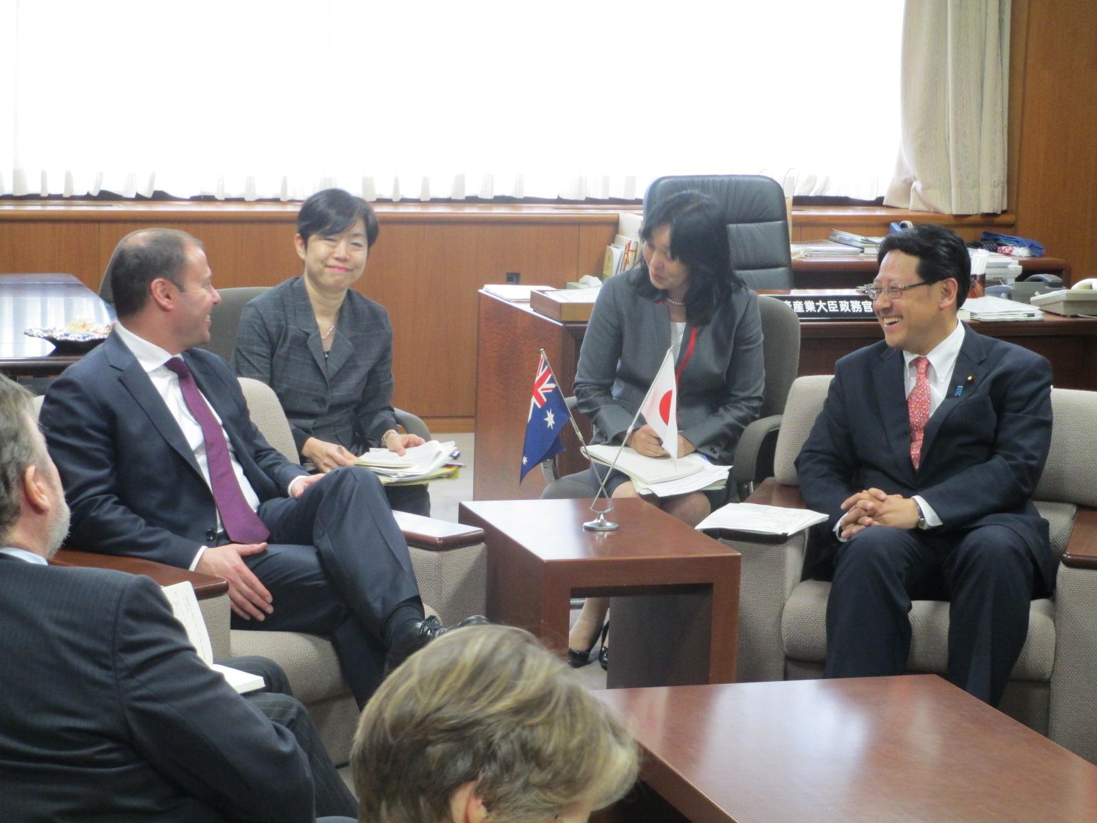 オーストラリアのジョシュ財務閣外大臣が来訪されました
