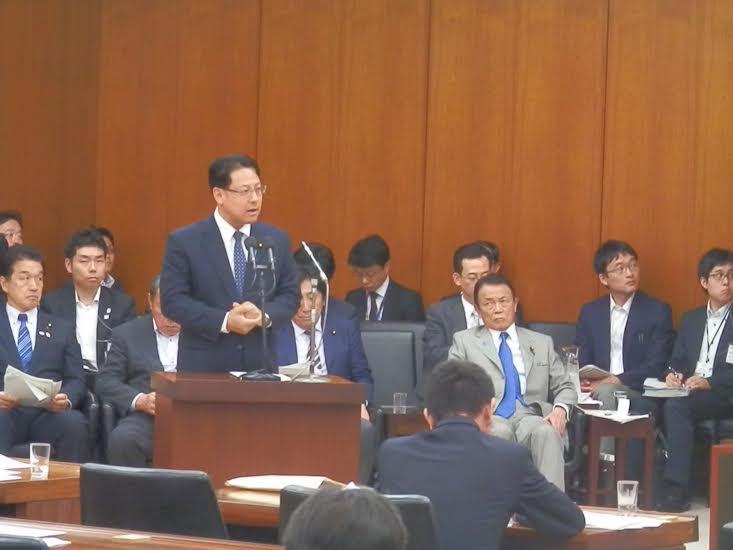 決算の委員会で麻生財務大臣と答弁でこの一緒させて頂きました