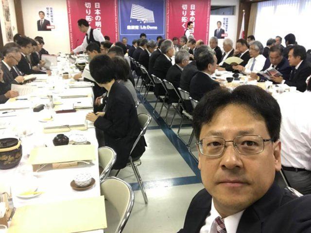 朝8時から党本部で、水産関連の会議がありました。