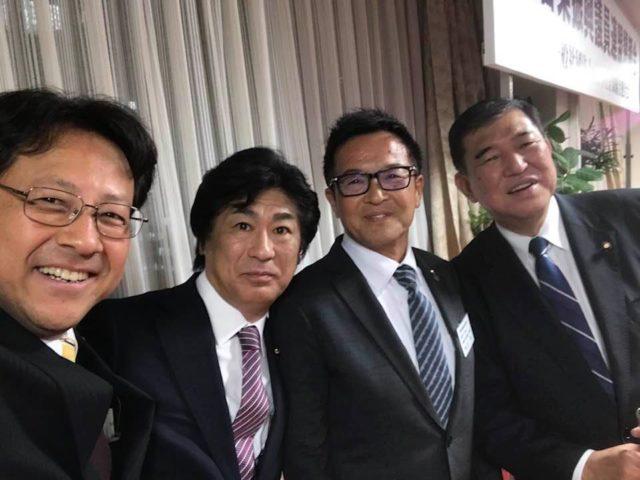 左官業振興議員連盟の総会に、兵庫県の嶋田会長が党本部までお越し下さいました。