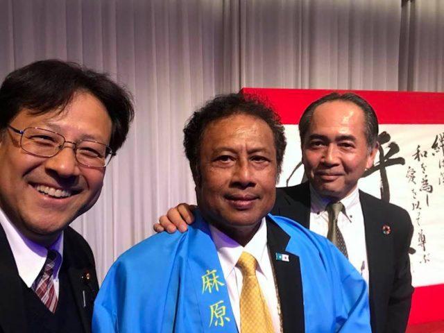 パラオ共和国の独立25周年祝賀式典に参加しました。