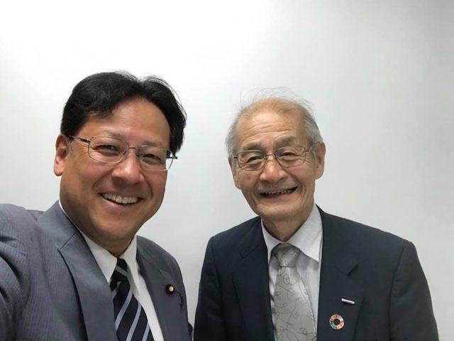 ノーベル賞受賞者の吉野博士を旭化成本社に伺いました。