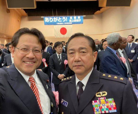 自衛隊・海上保安庁への御礼の会がありました。