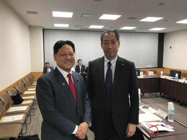 JAXAの山川宏 理事長にお会いしました。
