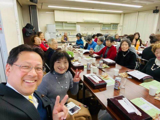 須磨の飛松会の新年会に参加しました。