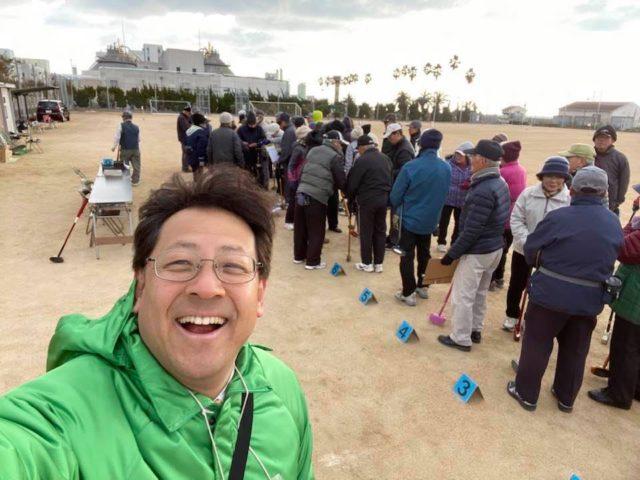 新春グランドゴルフ大会です。