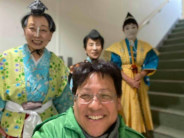 神陵台の新年会は、女歌舞伎です🤗