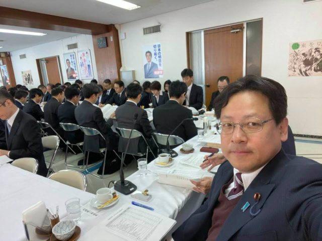 内閣第一部会・第二部会の合同会議を開始しました。