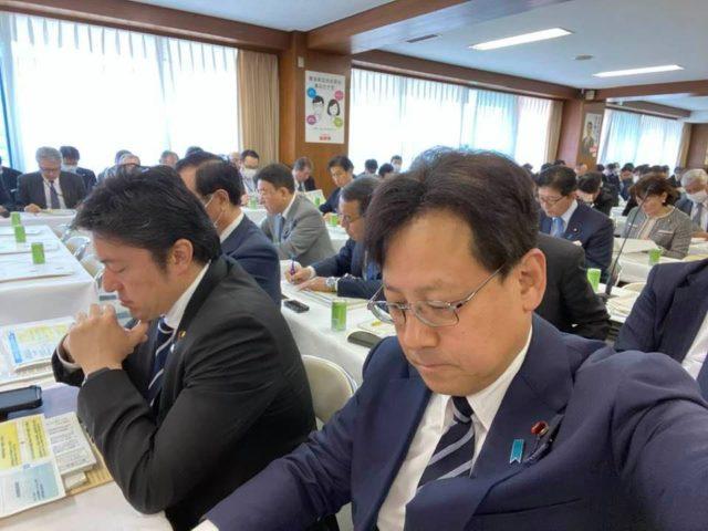 自民党本部でコロナ対策会議が開かれました。