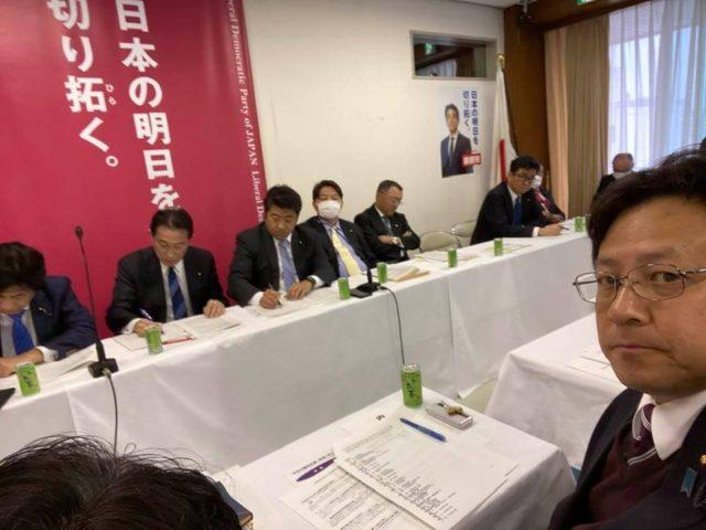 政務調査会、コロナ向け経済対策会議です。