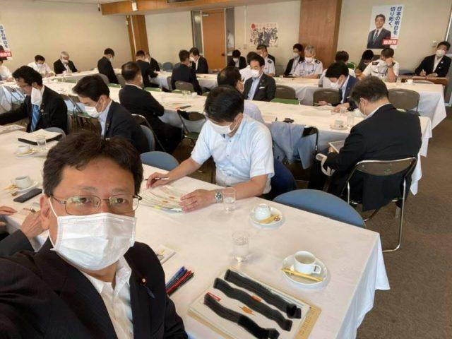 国防議員連盟の会議に参加しました。