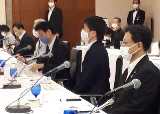 コロナ担当の西村康稔大臣が神戸にお越しになりました。