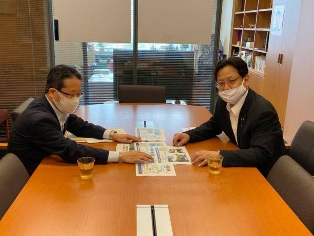 国交省の伊藤砂防課長が、説明にお越し下さいました。