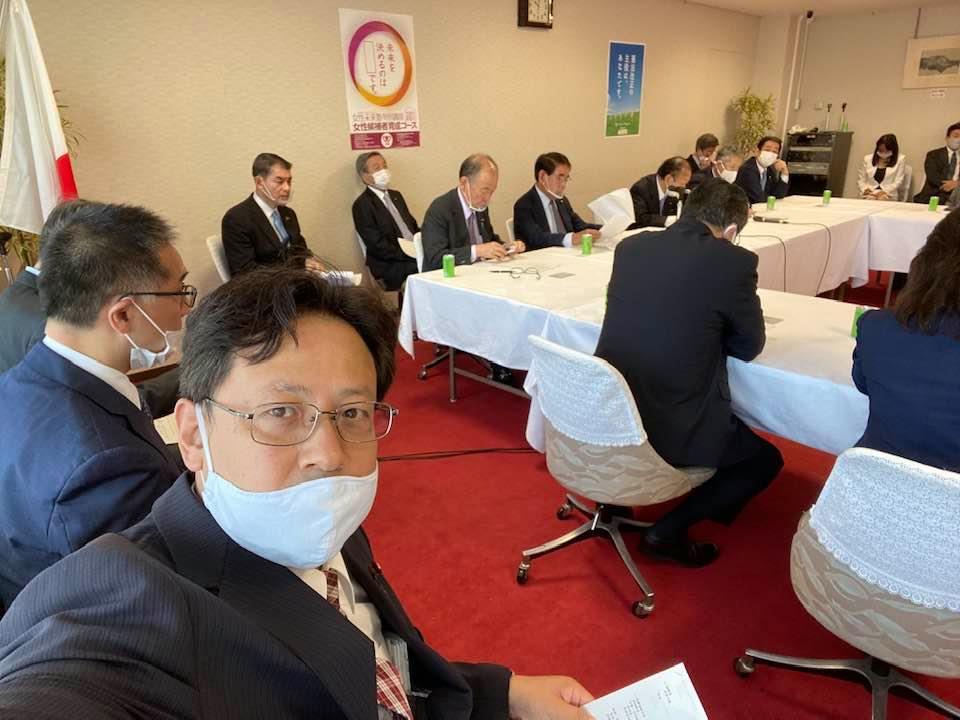役員連絡会に副幹事長として参加しました。