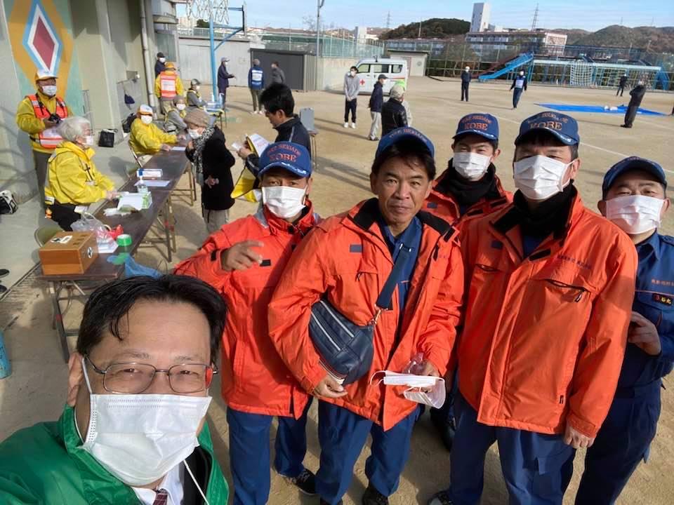 横尾地域で消防訓練がありました。