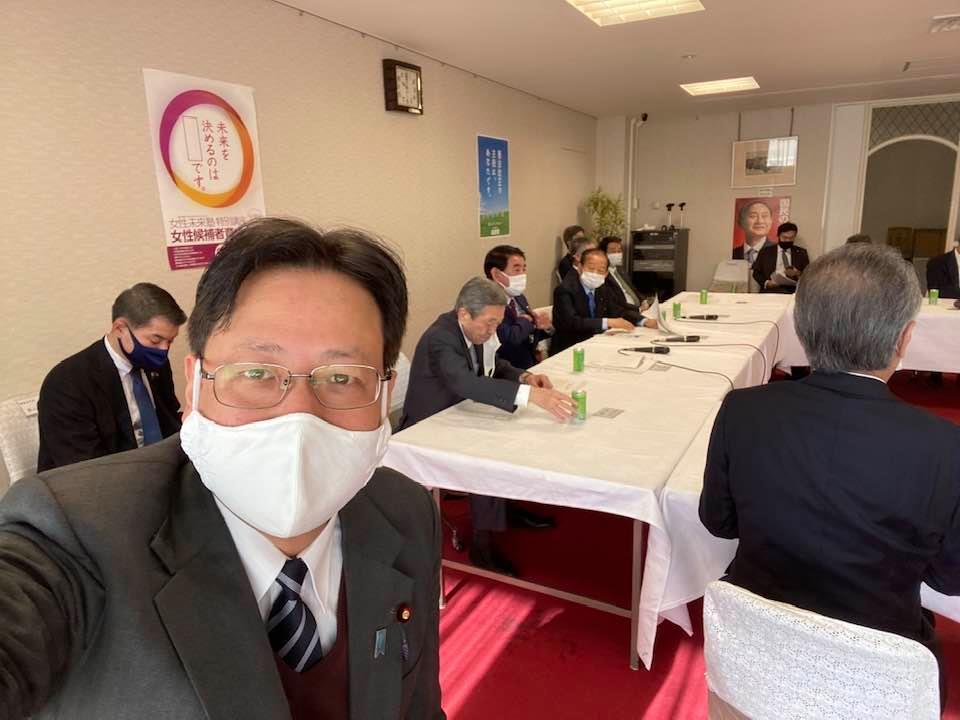 自民党本部役員会に副幹事長として出席しました。