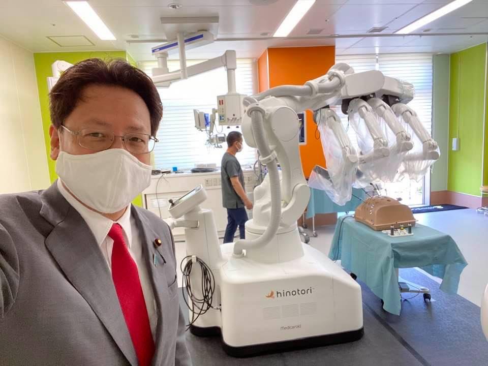 手術ロボット『ヒノトリ』を視察しました。