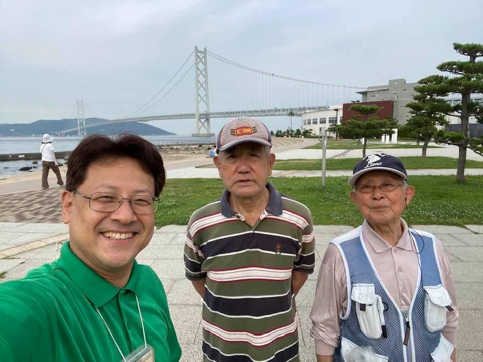 明石大橋の近くの舞子浜にて(#^.^#)