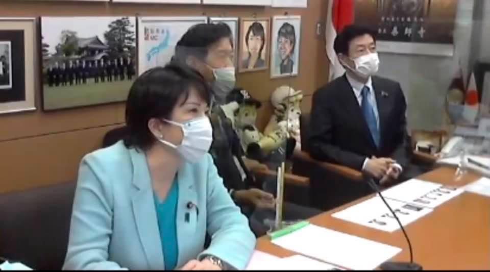 『高市早苗』自民党総裁候補とのzoom会議に参加しました。