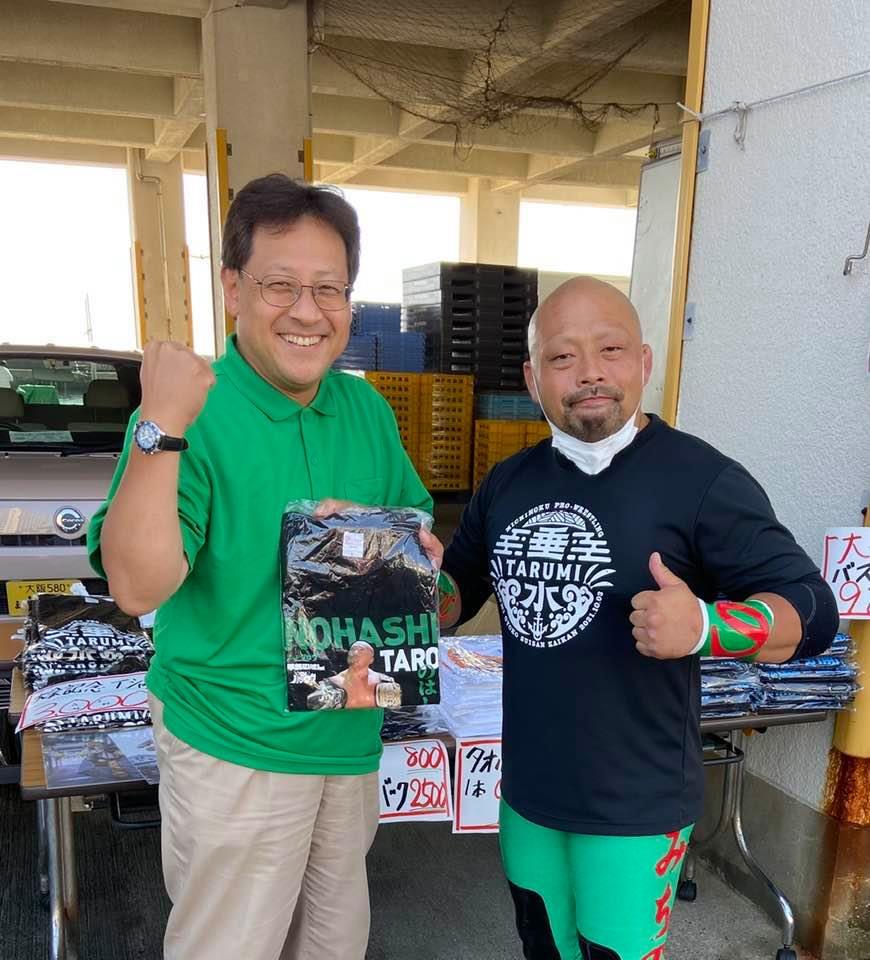 神戸市魚連にプロレス『のはし たろう』登場‼️‼️‼️