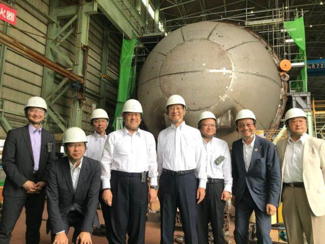 川崎重工業さんの播磨、ポーアイの工場・施設に視察に寄せて頂きました。