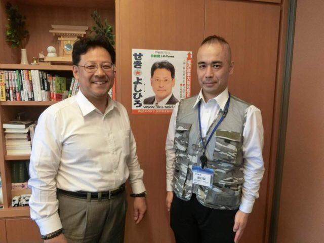 久野潤さんが久し振りに事務所を訪ねて来てくれました。