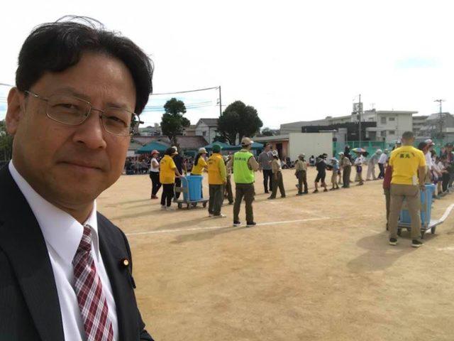 高丸小学校で防災訓練を兼ねた運動会が開催されました。
